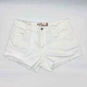 Levi's 550 White Cutoff Shorts